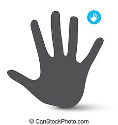 Hand Icon. Palm Hand Vector Symbol Isolated on White Background.
