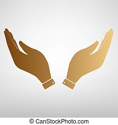 Hand icon. Prayer symbol.