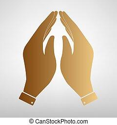 Hand icon. Prayer symbol