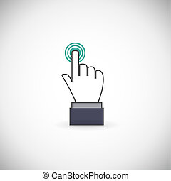Hand icon - Sign emblem vector illustration. Hand with...