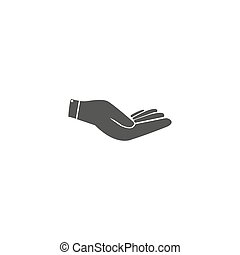 Hand icon vector . 10 EPS