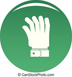 Hand icon vector green