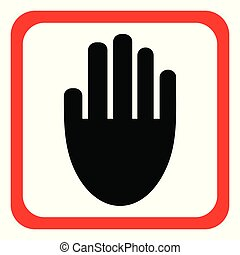 Hand icon. Vector illustration