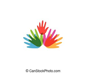 Hand icon vector illustration