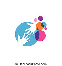 hand icon Vector Illustration design Logo template