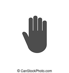 Hand icon. Vector illustration, flat design. Isolated.