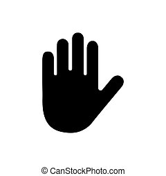 Hand icon vector isolated on white