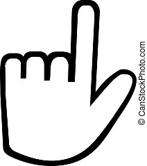 Hand icon with index finger