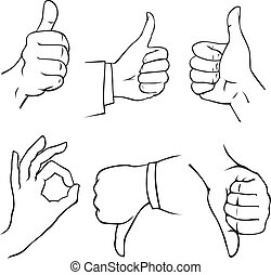 hand icons - icons with gesture hand