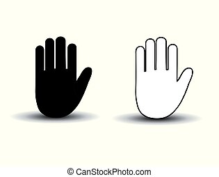 Hand icons vector illustration