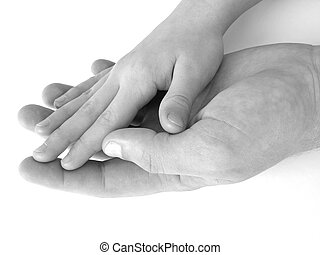 hand in hand - child hand in father\'s one