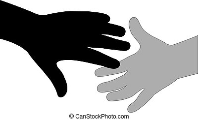 hand in hand silhouette