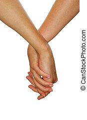 hand in hand - Hand in a hand on a white background