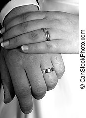 Hand in Marriage - Hands showing wedding rings