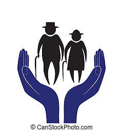 Hand in people encouragement help. Vector support moral. ...