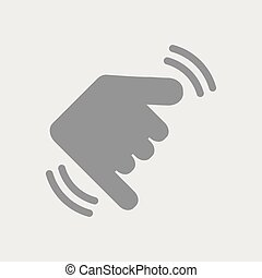Hand in shaka gesture - Flat and isolated vector...