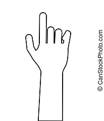 hand index finger icon - flat design hand index finger icon...