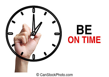 Be On Time Concept