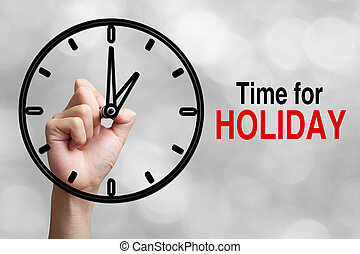 Time For Holiday Concept