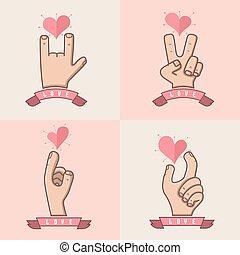 hand, kärlek