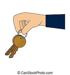 hand key fingers icon vector graphic
