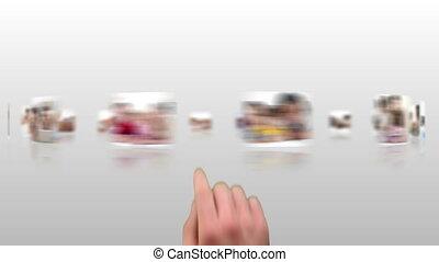 hand, kies, klemmen, over, families