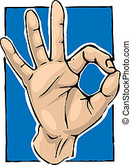 Hand (kinesiology) - A hand giving a kinesiology gesture.