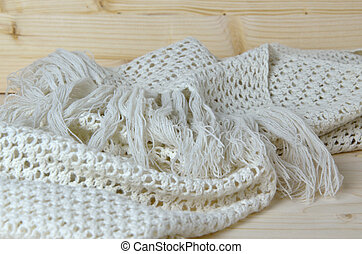 Hand-knitted scarf