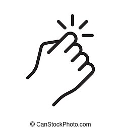 Hand knocking on door icon. Vector illustration