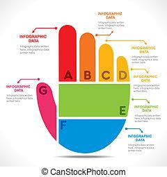 hand, kreativ, info-graphics