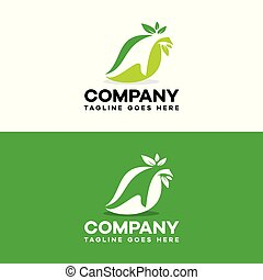 hand leaf care logo template