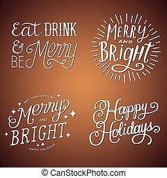 hand-lettered, nachrichten, feiertag