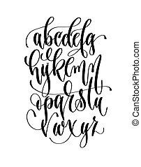 hand lettering alphabet design, vector illustration