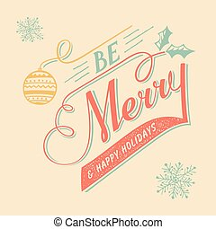 Hand-lettering Christmas greeting card