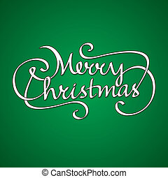 hand lettering merry christmas