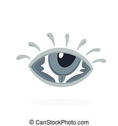 hand lettering word eye in eye