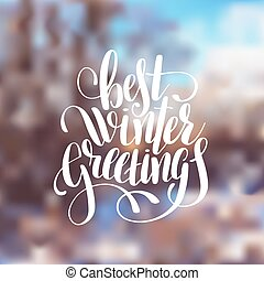 Winter Seasonal Holiday Quote Lettering Winter Season Holidays And