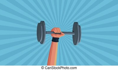 hand lifting weight animation animation