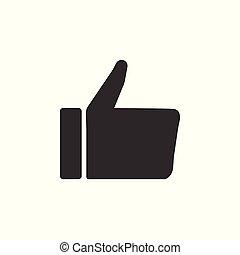 Hand like icon. Flat design, vector illustration.