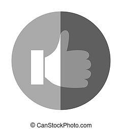 hand like social media icon
