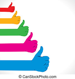 hand like symbol - colorful like hand symbol background...