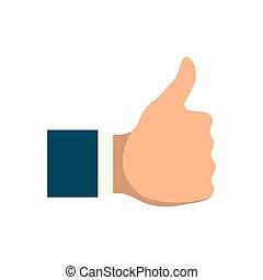 hand like thumb up