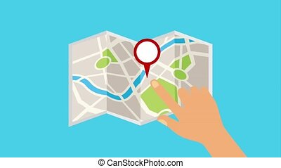 hand location map service taxi pointer