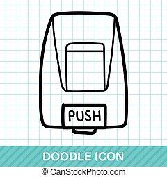 hand lotion machine doodle