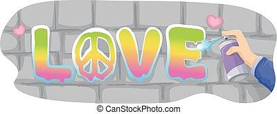 Hand Love Graffiti