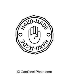 hand-made , μικροβιοφορέας , σήμα