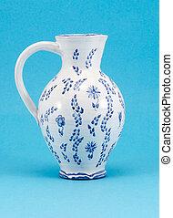 hand made aged jug jar art pitcher paint ornaments