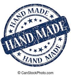 Hand Made blue stamp