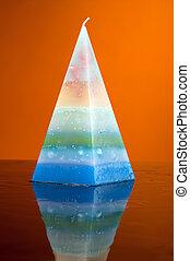 Hand made candles. Beautiful candle pyramid