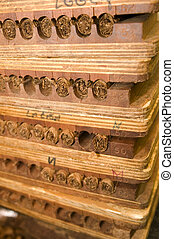 hand made cigars in press storage